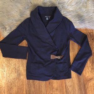 Ralph Lauren Navy Cardigan Side Belt Shirt